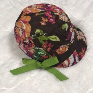 🎈Vera Bradley Newsgirl Hat/Cap in English Rose